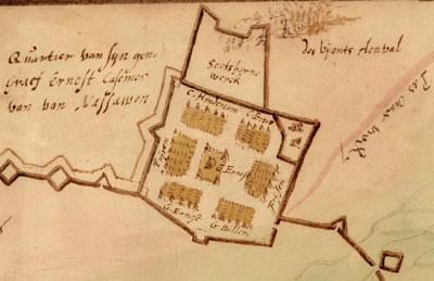 Detail: Kwartier van Ernst Casimir van Nassau