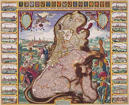 Leeuw, paard of persoon als cartografische voorstelling