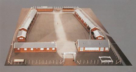 Maquette van werkkamp in Kloosterhaar