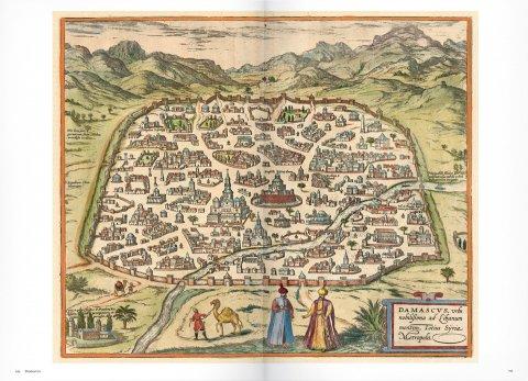 Kaart van Damascus