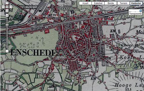 Detail topografische kaart van Enschede 1930