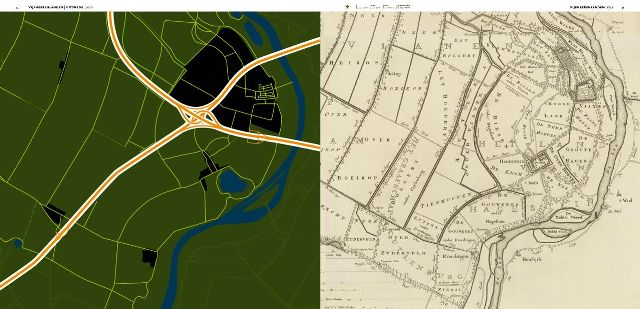 Vergelijking op foto's in de atlas