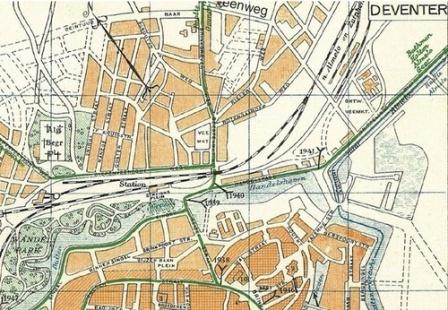 Stedenkaart van Deventer