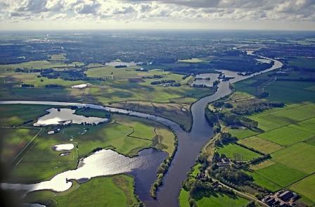 Foto van de rivier de Vecht