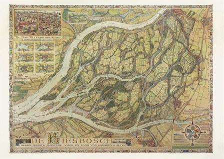 Kaart van de Biesbosch