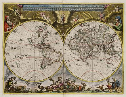 Wereldkaart van Joan Blaeu