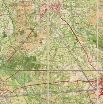 Topografische kaart van rond 1900