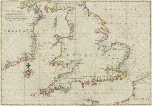 Kaart van Engeland, Vingboons, 1665
