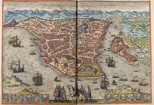 Constantinopel, door Braun & Hogenberg, 1572