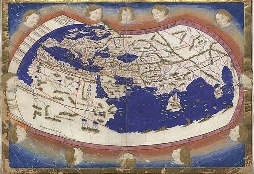 Wereldkaart naar Ptolomaeus