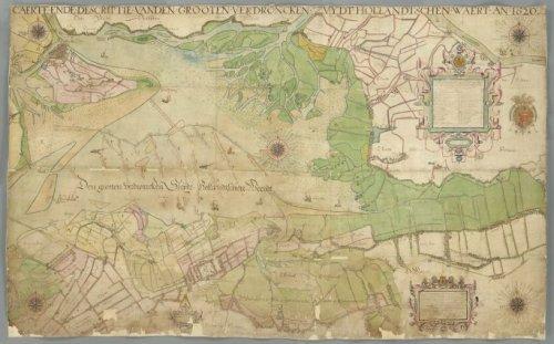 Kaart van de Zuid-Hollandse waard, 1747 [1620]