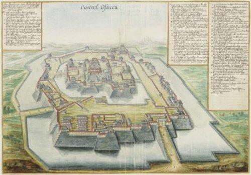 Gezicht op Osaka, Vingboons, 1665