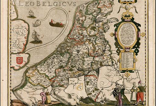 Leo Belgicus, Kaerius, 1617