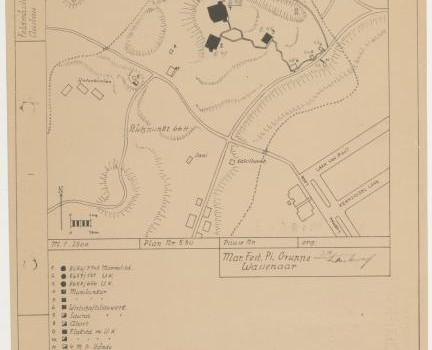 Kaart van bunker duinen in Den Haag