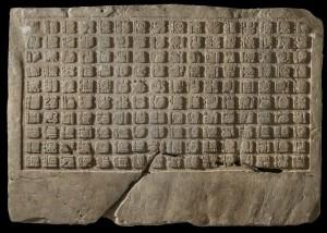 Kalkstenen paneel met 160 hiërogliefen, 799 na Christus,