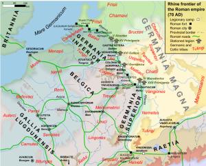 Kaart van de Limes