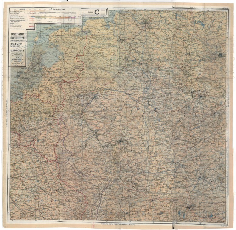 Ontsnappingskaart uit de Tweede Wereldoorlog