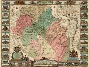Kaart van Beckeringh als bijlage van boek
