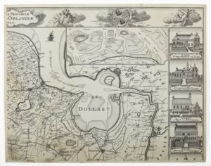 Theodorus Beckeringh (1712-1790) Kaart of landtafereel der provincie van Groningen en Ommelanden, Gravure, 1781 Foto: Marten de Leeuw