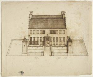 Theodorus Beckeringh (1712-1790) Voorstudie van de Menkemaborg Tekening in inkt, 1750 – 60 Foto: Marten de Leeuw