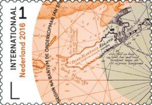Postzegel met Dirk Hartogh Island