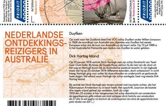 Kaarten op postzegels. Grenzeloos Nederland – Australië