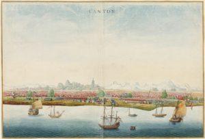 Gezicht op Nieuw Amsterdam, Johannes Vingboon, ca. 1665 NA