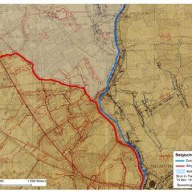 Loopgravenkaarten uit de Eerste Wereldoorlog