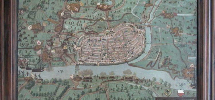 Kaart van beleg van Rennenberg uit 1578