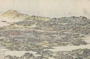 Detail van Japanse kaart