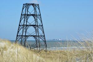 Nog altijd staat de Emder Kaap tegenwoordig als enige bouwwerk op het eiland Rottum. Foto Henk Postma www.wad-mooi.nl