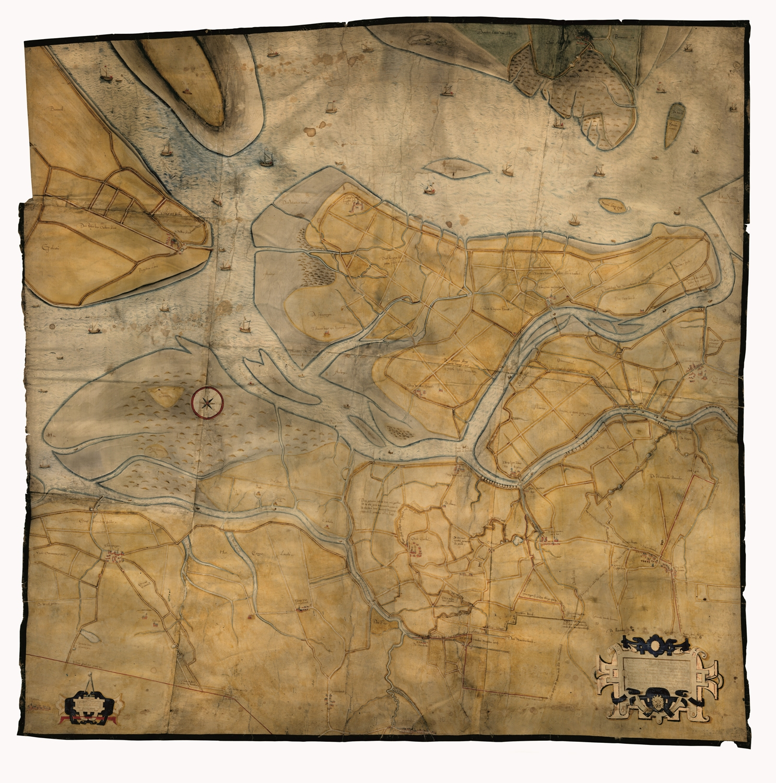 Gastelse kaart uit 1565