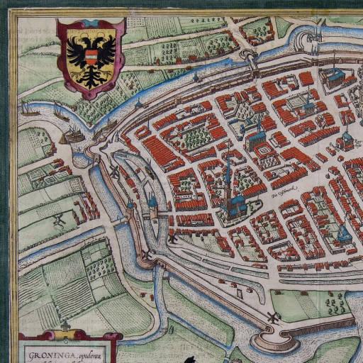 Kaart van Groningen uit 1571