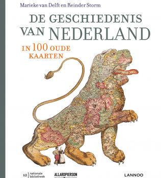 Omslag van het boek De geschiedenis van Nederland in 100 oude kaarten