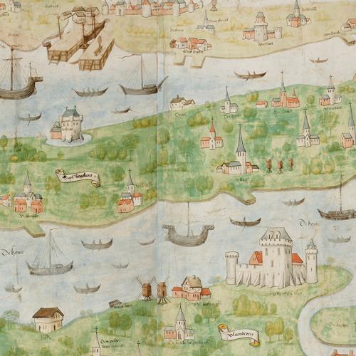 Detail van Scheldekaart uit 1504-1505
