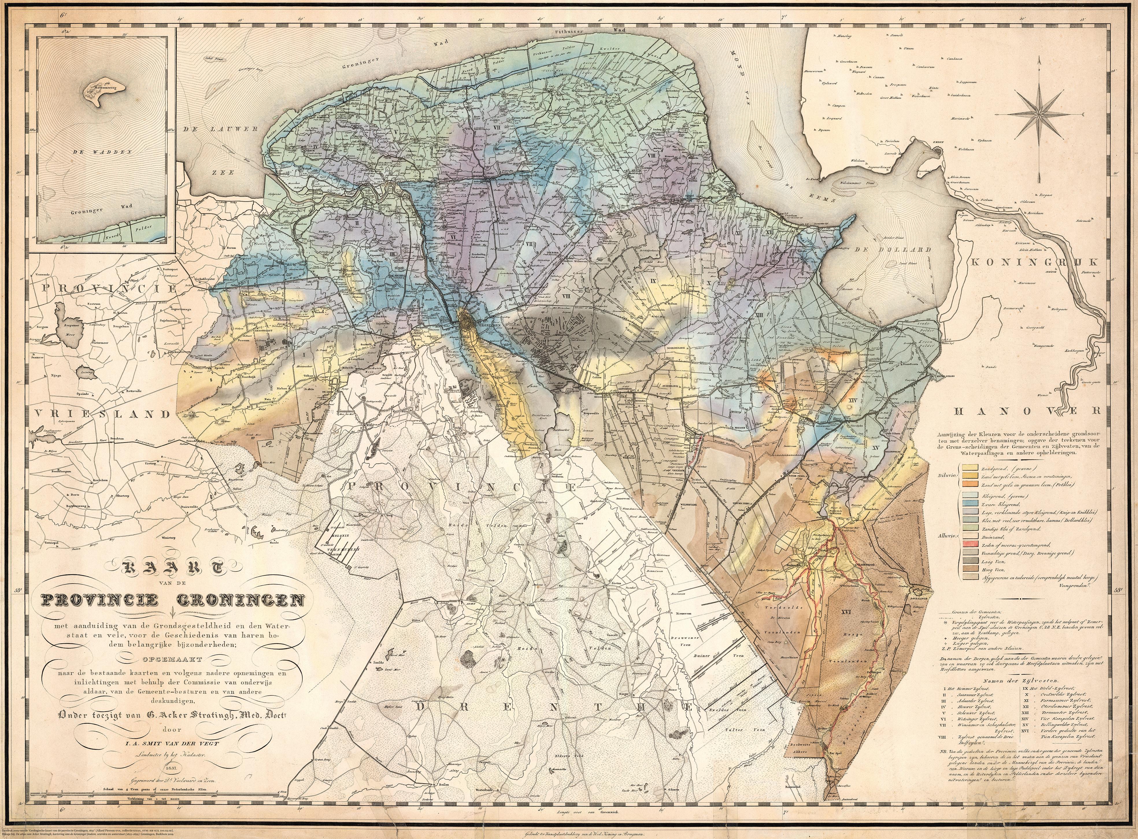 De kaart van Acker Stratingh