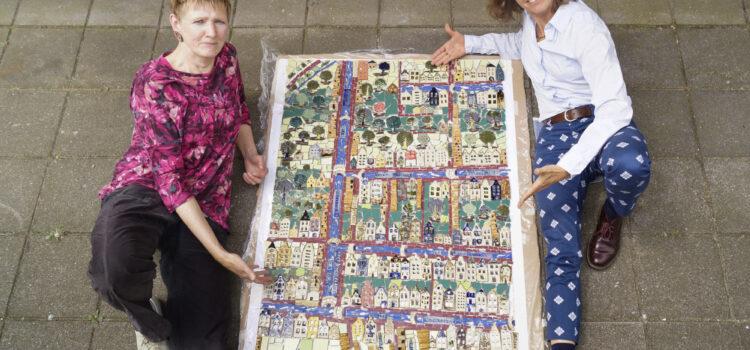 De keramieken kaart van Delft