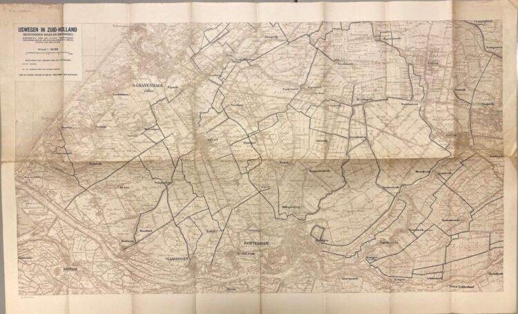 IJswegen in Zuid-Holland (benoorden Maas en Merwede). Uitg. 's-Gravenhage, 1934. Allard Pierson UvA,HB-KZL 80.14.02.