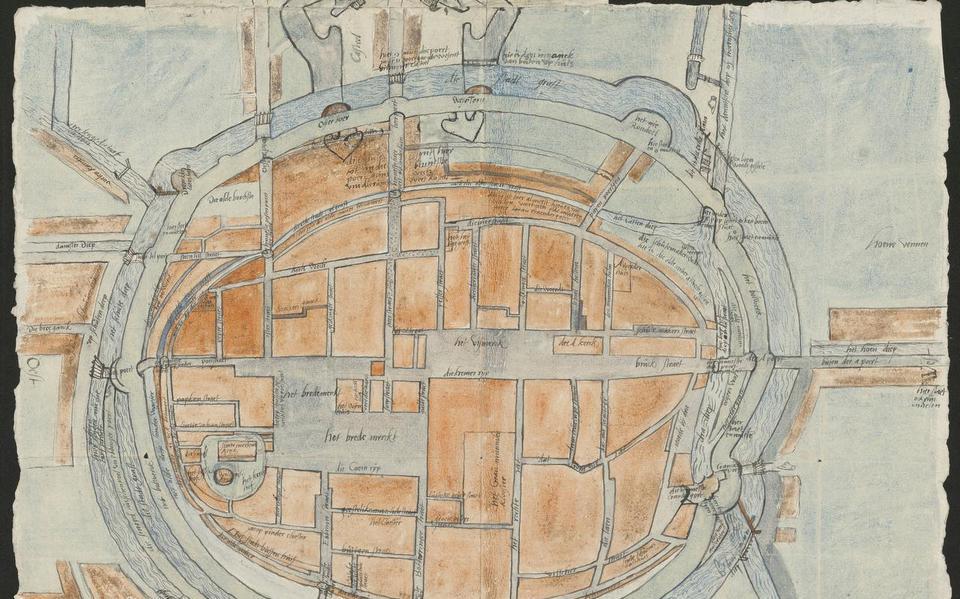 De door historicus Frans Westra in een Duits archief gevonden kaart.